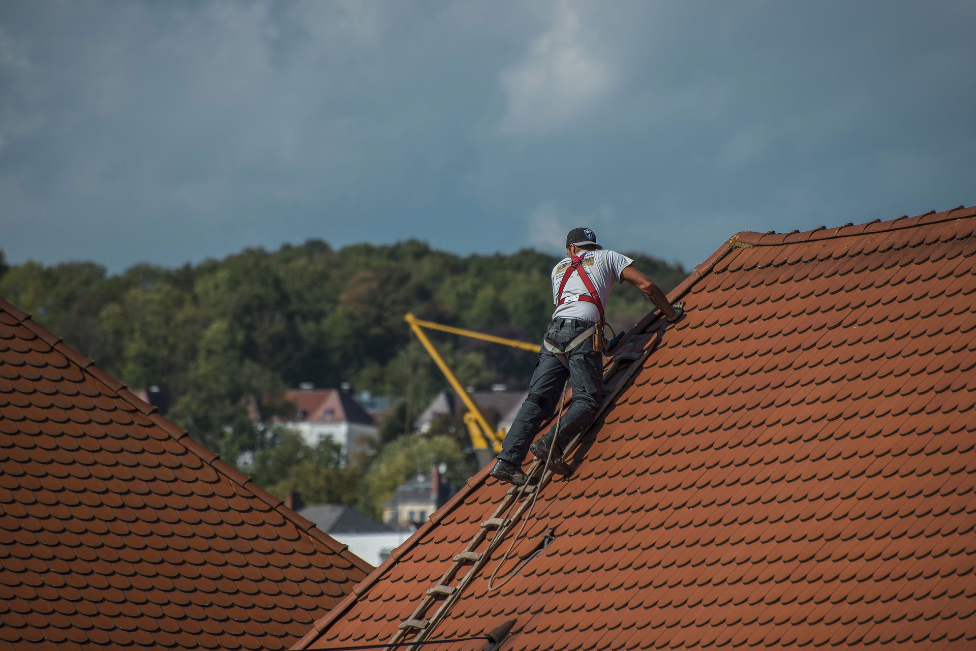 roofer's fixing a roof